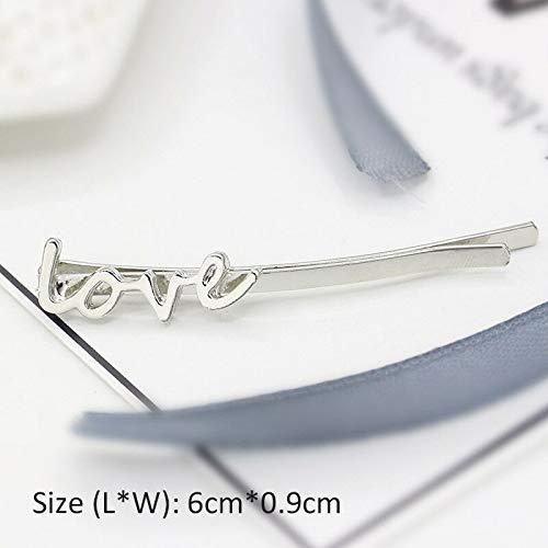 - Women Vintage Hairpin Butterfly Barrette Leaf Pearl Scissor Hair Clip Accessory (Patterns - #J Silver love)