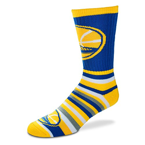 For Bare Feet Lotta-Stripe Youth Size 13, 1-5 Kids Socks (4-8 YRS) - Golden State Warriors