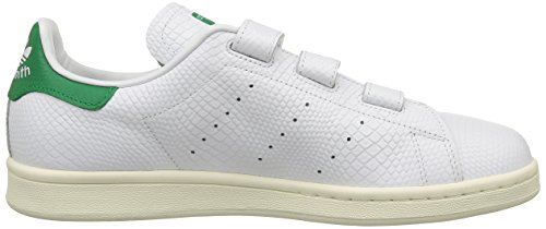 Adidas OriginalsStan Smith CF - Scarpe da Skateboard Unisex – Adulto Blanco / Verde
