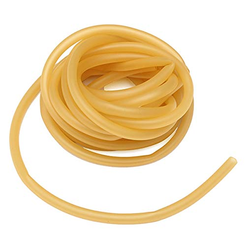 Yosoo 6 x 9 mm Latex Natural Amarillo Banda De Goma Fitness musculos Rally Ejercicio Exterior tirachinas elastica Parte con Sevenfold 3 m