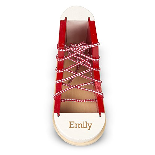 Melissa & Doug Personalized Deluxe Wood Lacing Sneaker Learn