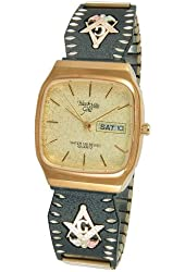 Champagne Dial Analog Day/Date Display Mens Masonic Watch 9-WB160