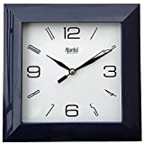 Ajanta Plastic Wall Clock (175 mm x 175 mm x 35 mm 1847 - Black)