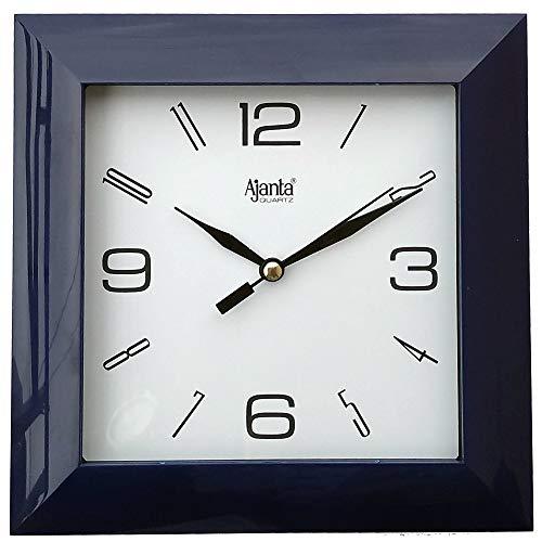 Ajanta Plastic Wall Clock (172 mm x 172 mm x 35 mm 1847 – BLACK)