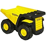 Tonka Toughest Mighty Dump Truck - Classic Steel(age: 3 years and up) (Oversized dump truck measures 18 by 11-1/4 inches; 6-1/2-inch tires)