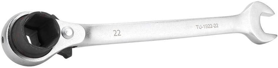 Liukouu Premium CR-V Stahl Ratschensteckschl/üssel Dull-Head Schraubenschl/üssel 19x22-22mm