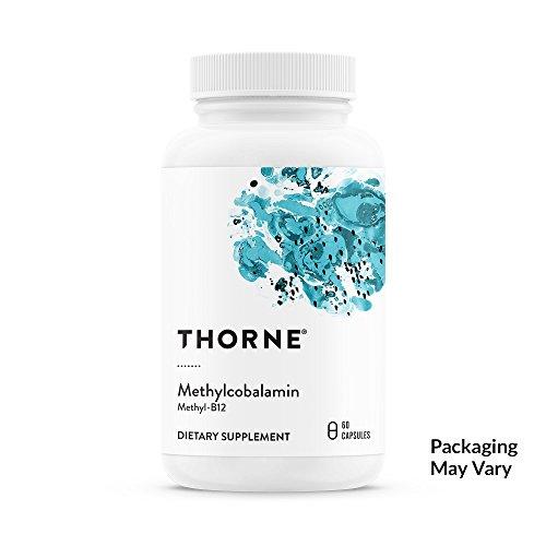 Thorne Research - Methylcobalamin (Methyl B12) - Active Form of Vitamin B12-60 Capsules