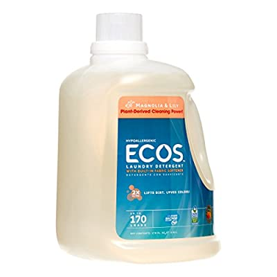 PACK OF 3 - ECOS 2X Ultra Natural Laundry Detergent, Magnolia & Lily, 170 Loads