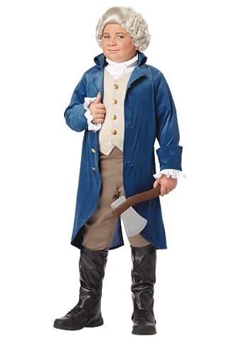 California Costumes George Washington/Thomas Jefferson/Alexander Hamilton and Colonial Child Costume, Medium