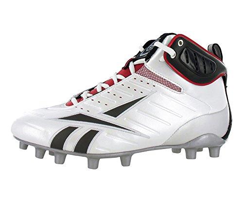 Reebok Men's Bulldodge Mid M2 III KFS Lacrosse Shoe,White/Black/Silver/Red,10 M US by Reebok