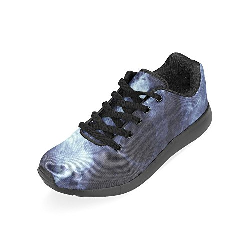 InterestPrint skull rose Sports Running Shoes for Women Clown DNoxV9g