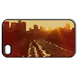 Santiago Atardecer en Ri Mapocho Watercolor style Cover iPhone 4 and 4S Case