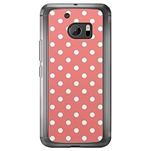 Loud Universe HTC M10 Love Valentine Printing Files Valentine 81 Transparent Edge Case -Pink & White