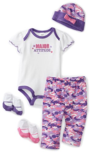 Baby Essentials Baby-girls Newborn Major Attitude Layette Set