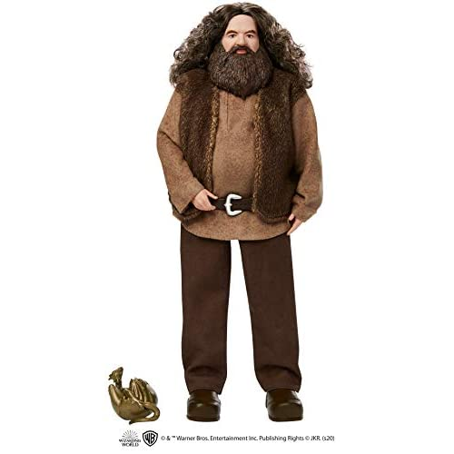 Harry Potter Rubeus Hagrid Collectible Doll, Approx. 12-inch Wearing Belted Shirt and Vest, with Dragon Accessory