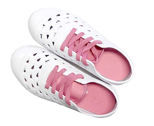 Sneaker Sandals DINY Ladies Womens Home Pink White Style amp; Clogs Slip On 77fzxHw0