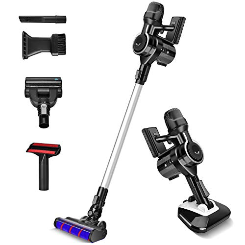 Cordless Vacuum Cleaner- Acum 23KPa Powerful Suction 6-in-1 Cordless Stick Vacuum, Lightweight & 30min Lasting Runtime, Ideal for Hardwood Floor Carpet Mattress & Pet Hair Cleaning, Black