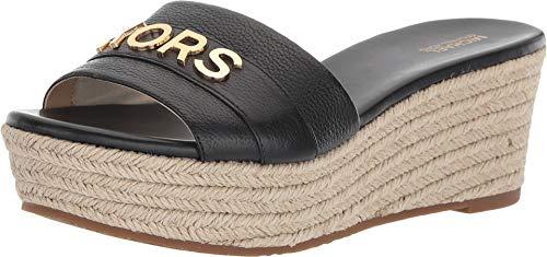 Michael Michael Kors Brady Platform Leather Slide Sandals Black (7.5 M)