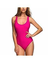 Ron Billy Womens Plus Size Scoop Back Swimwear One Piece Bather Bathing Suit