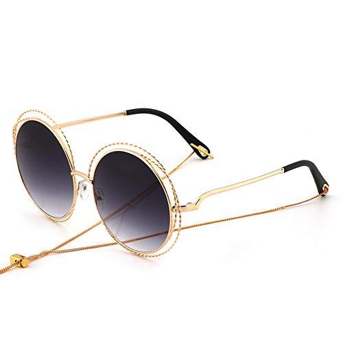 soleil modèles soleil couleur protection NIFG ronde de grande Super dégradé lunettes UV féminins monture ligne protection de lunettes YwqB6C