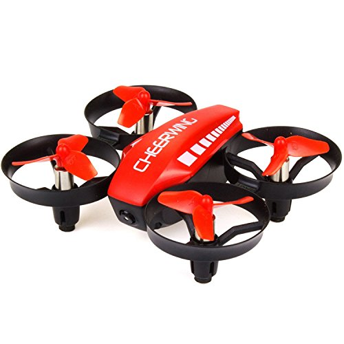 Cheerwing CW10 Mini Drone for Kids Wifi FPV Drone with Camera Remote Control Quadcopter with Altitude Hold and One Key Take-off / Landing Red
