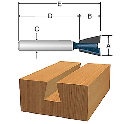 Bosch 84709M 14 degree x 1/2 In. Carbide Tipped Dovetail (Bosch Dovetail Bit)