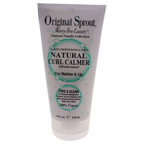 Original Sprout Natural Curl Calmer. All Natural Hair Care. Curly Hair Moisturizer and Hair Strengthener. 4 oz.
