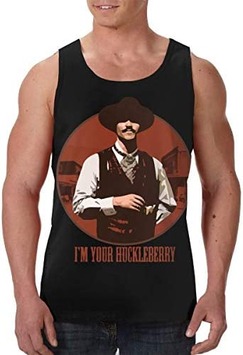 I'M Your Huckleberry メンズ 印刷 袖なしク シャツ 筋肉シャツ レーニング ティーズ 吸汗速乾