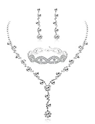 Women's Rhinestone Bridesmaid Jewelry Set