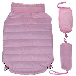 Lightweight Adjustable 'Sporty Avalanche' Pet Coat, Small, Light Pink