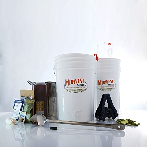 All Inclusive Platinum Pro Homebrew Beer Brewing Starter Kit with Front Porch Pale Ale Beer Recipe Kit and Brew Kettle by Midwest Supplies
