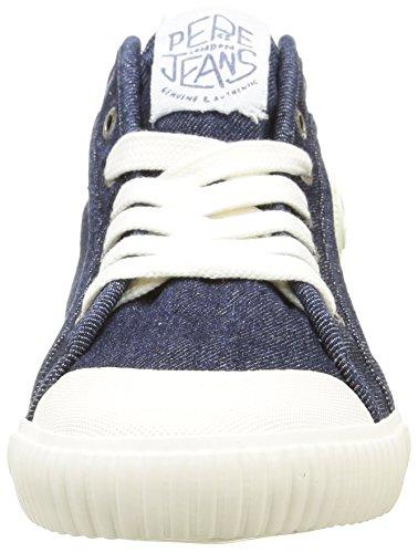 Pepe Jeans Herren Industry Denim Hohe Sneakers Blau (000DENIM)