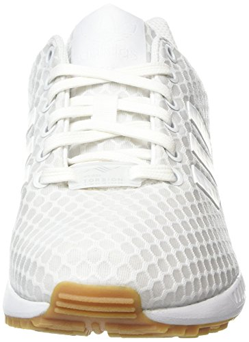 White Adidas footwear Blanc footwear gum Mixte Basses Adulte Flux Sneakers Zx White vq6r0v
