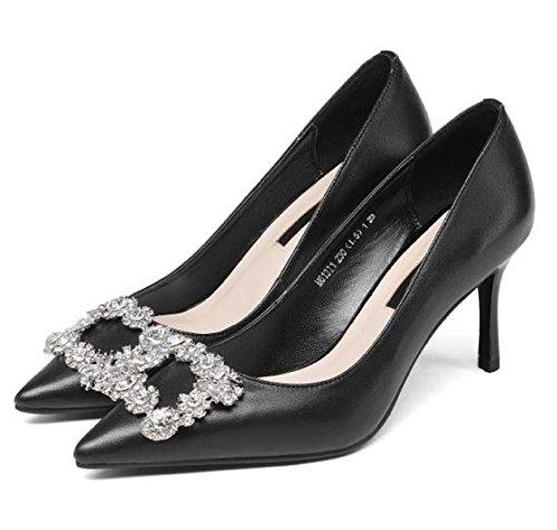 Frauen Sexy Spitz Stilettos High Heel Pumps Court Schuhe Mit Strass Office Work Heels Schuhe