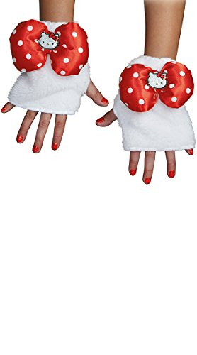 Disguise Women's Hello Kitty Adult Glovettes Costume Accessory, Multi, One Size