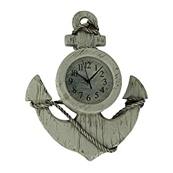 Ashton Sutton CX1435 Quartz Analog Anchor Wall Clock, 13-Inch