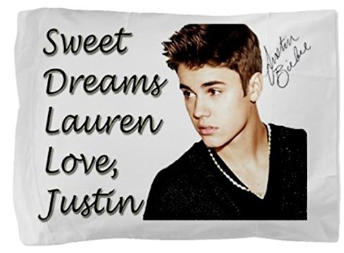Lowest Prices! Justin Bieber Personalized Pillowcase Pillow Case for Teen Girl Christmas Gift Person...