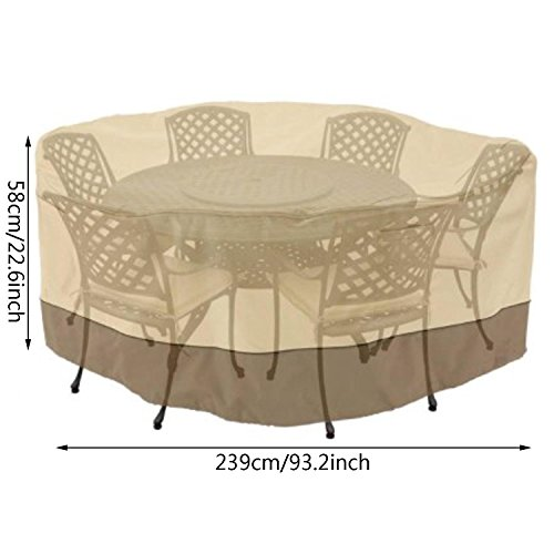 New Outdoor Patio Waterproof Round Table and Chair Set Cover Furniture Storage Cover Dust Cover by Cosway