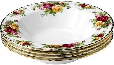 Amazon.com: Royal Albert Old Country Roses Rim Soup Bowl 21cm (Set ...