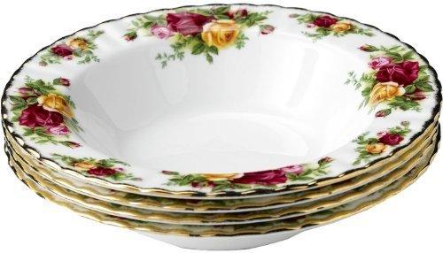 Royal Albert Old Country Roses Rim Soup Bowl 21cm (Set of 4) Country Roses Rim Soup Bowl