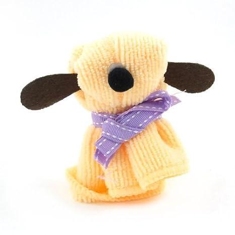 Terry perro de Styel cinta decoración bowknot Toalla púrpura anaranjado claro: Amazon.es: Hogar