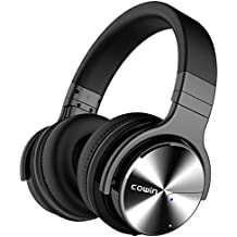 COWIN E7 PRO Active Noise Cancelling Headphone Bluetooth Headphones with Microphone Hi-Fi Deep Bass Wireless Headphones Over Ear 30H Playtime for Travel Work TV Computer Cellphone - Black