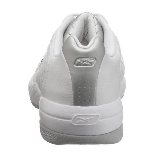 Chaussure De Basket-ball Bas Ii Reebok Homme Pivot Blanc / Argent