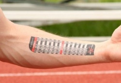 PACETAT - Pacing Tattoo - Miles Splits - Full and Half Marathon Finish times (Full: 4:05 | Half: 2:02)