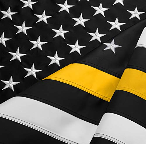 FBNC Thin Yellow Line Flag 3x5 Ft: Durable Nylon Embroidered