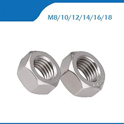 Nuts 316 M8 M10 M12 M14 M16 M18 316 Stainless Steel Hexagonal nut