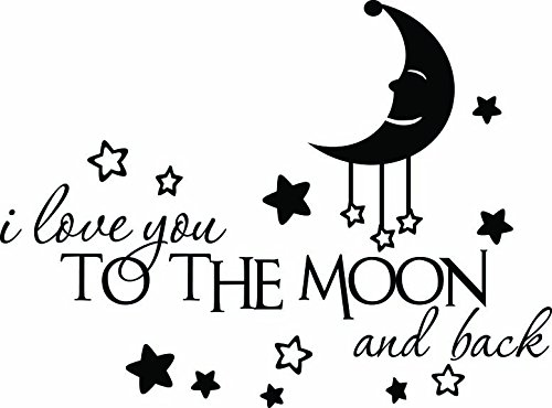 I love you to the moon and back cute Wall Vinyl Decal Quote