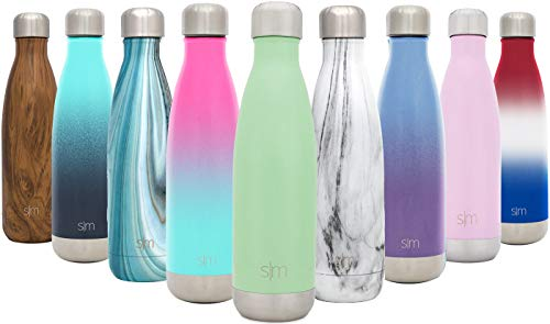 Simple Modern Stainless Steel Vacuum Insulated Double-Walled Wave Bottle, 17oz - Mint ()