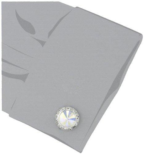 Stacy Adams Mens Round Silver Cuff Link W//blk Enamel /& Crystals