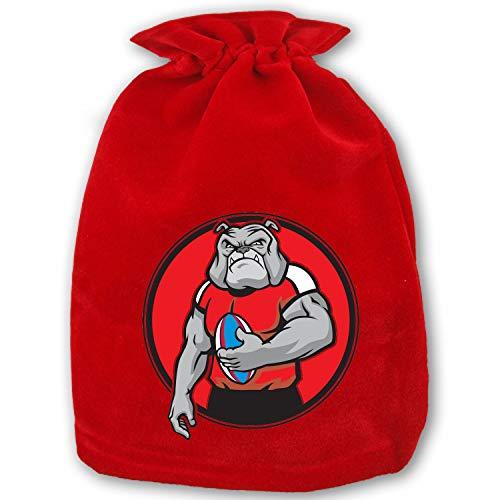 - Christmas Drawstring Gift Bags Small Football Player Bulldog Xmas Bag Mini Reusable Bags Bulk for Kids,Holiday Party Candy Favors